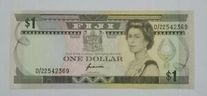 1989-Fiji-1-Dollar-QE-II-P-89a-GEM-UNC-034-KUABUABOLA-034