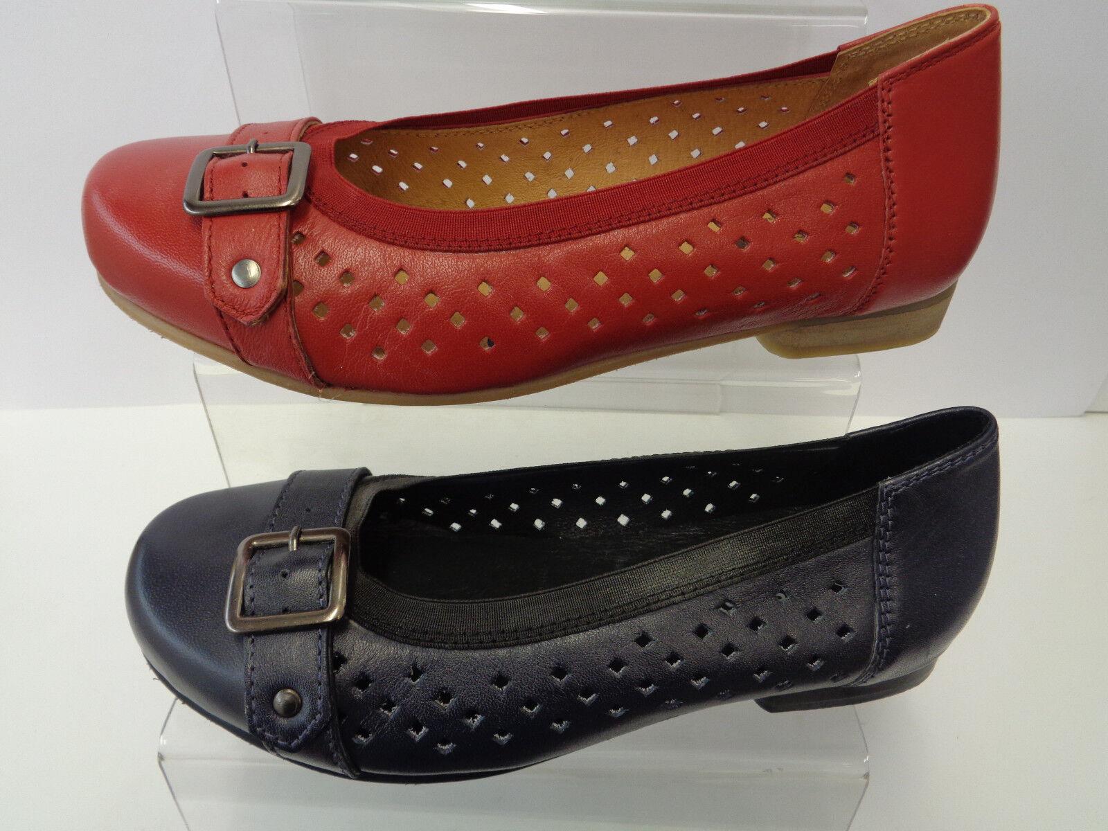 Mujer Easy B Azul Marino Zapatos de de de piel SIN CIERRES Leslie  ventas calientes