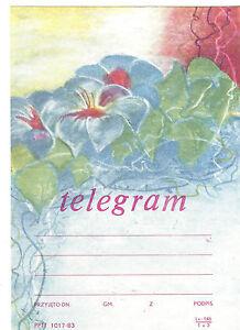 TELEGRAMME-POLOGNE-1991-FLEURS-ANNEE-1983