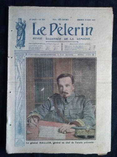 """Journal /""""LE PELERIN/"""" 1919 13 numéros"""