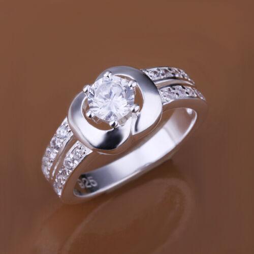 Hot wholesale sterling solid silver Fashion incrusté strass Anneau xlsr 163