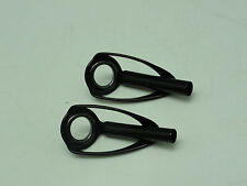 Two SILICON CARBIDE SIC CONCEPT BMNLST size #8 RING TOP Stainless black anodized