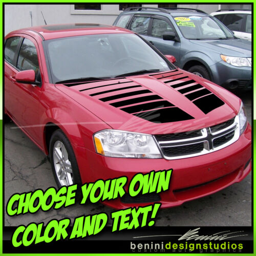 2008 2009 2010 2011 2012 2014 Dodge Avenger Hood Decal Graphics Stripes Style 2