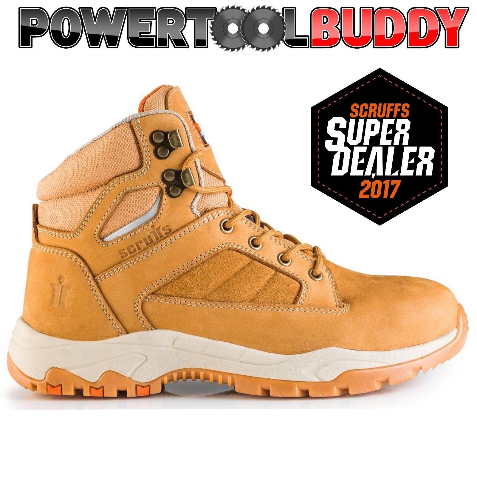 Scruffs OXIDE Safety Boots Tan Sizes 7-12 Mens Steel Toe Cap Work Boot Hiker B5
