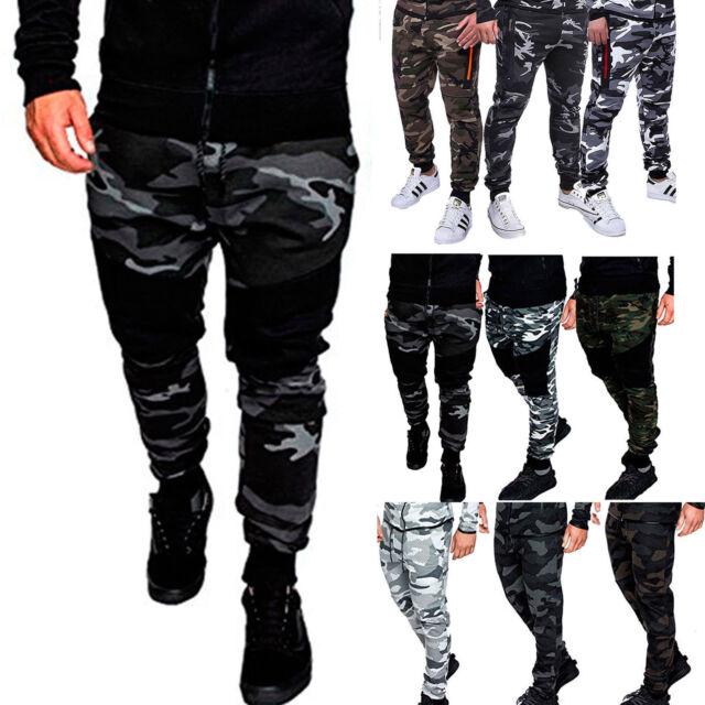 Men's Camouflage Camo Cargo Army Pants Harem Joggers Sport Sweat Pants Trousers