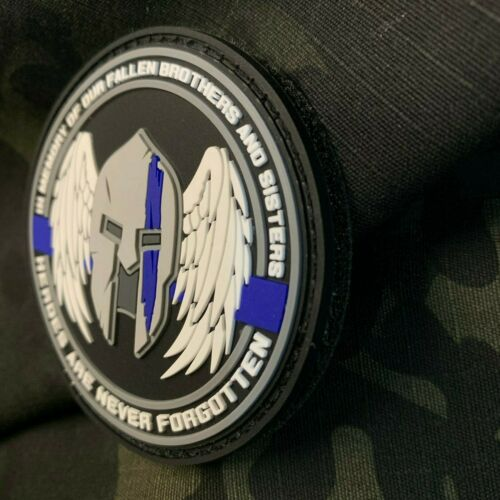 In Memory of Our Fallen Law Enforcement Thin Blue Line PVC Patch