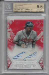 RONALD-ACUNA-ROOKIE-2018-Topps-Diamond-Icons-Red-Auto-3-5-BGS-9-5-GEM-MINT-AUTO