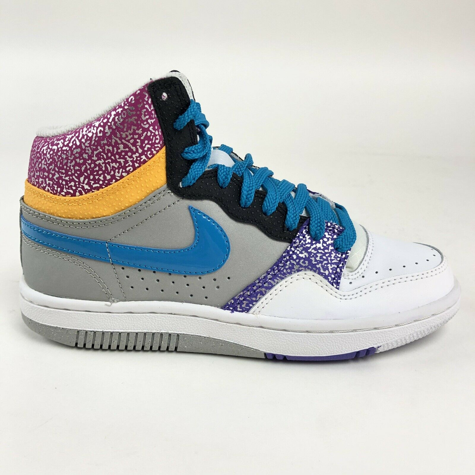 Nike Womens Court Force High Pink Purple bluee Size 7.5 shoes Retro 316117-041