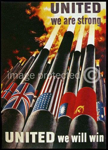British WW2 Propaganda Poster United We Are Strong
