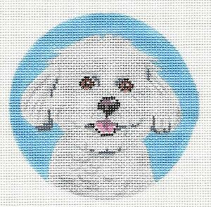 JG Puppy Dog by Squiggee HP Handpainted Needlepoint Canvas