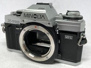 [REAR NEAR MINT Minolta X-700 Silver 35mm SLR Film Camera From JAPAN #639