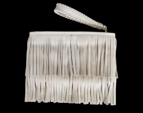 B-LOW THE BELT Twiggy Fringe Clutch Wristlet Bag S