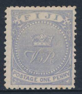 1878-1899-FIJI-1d-PALE-ULTRAMARINE-MINT-HINGED-SG35