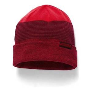 125 UNDER ARMOUR MEN RED UA CUFFED CAP WINTER WARM SKI HAT BEANIE ... b2ddac1a981
