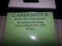 1 Set Carbontex Drag Washers Fits Penn 320-330 Gti, Gt2, Gt2lc