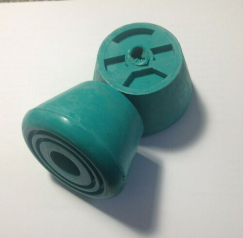 SET OF 2 TEAL SURE GRIP BELL ROLLER SKATE TOE STOPS FREE SHIPPING