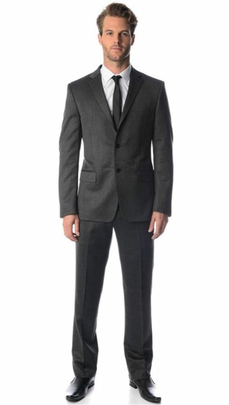 VERSACE COLLECTION Grau Wool Suit Comfortable Fit EU50 Uk40 BNWT