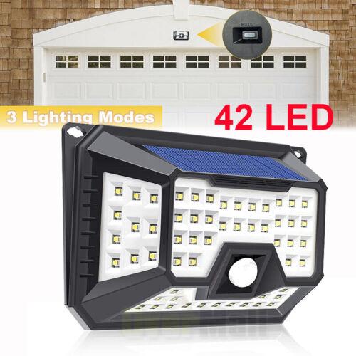 1//2xLED Solar Powered Light Outdoor Wireless Motion Sensor Wall Yard Garden Lamp