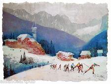 Worldcup NORDIC SKIING 3 Intaglio Prints on Hand made Paper - Mikulas Kravjansky