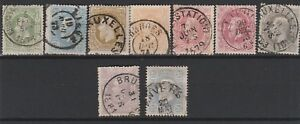 FRANCOBOLLI-1869-78-BELGIO-LEOPOLDO-II-Z-9417