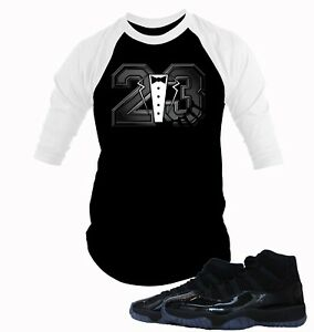 purchase cheap 552bc c640f Image is loading Baseball-Tee-Shirt-to-Match-Air-Jordan-11-