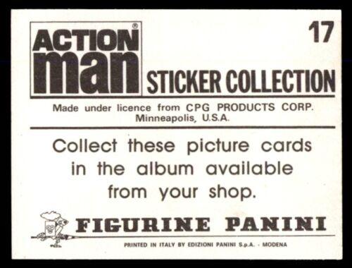 Panini Action Man Sticker 1983 No 17