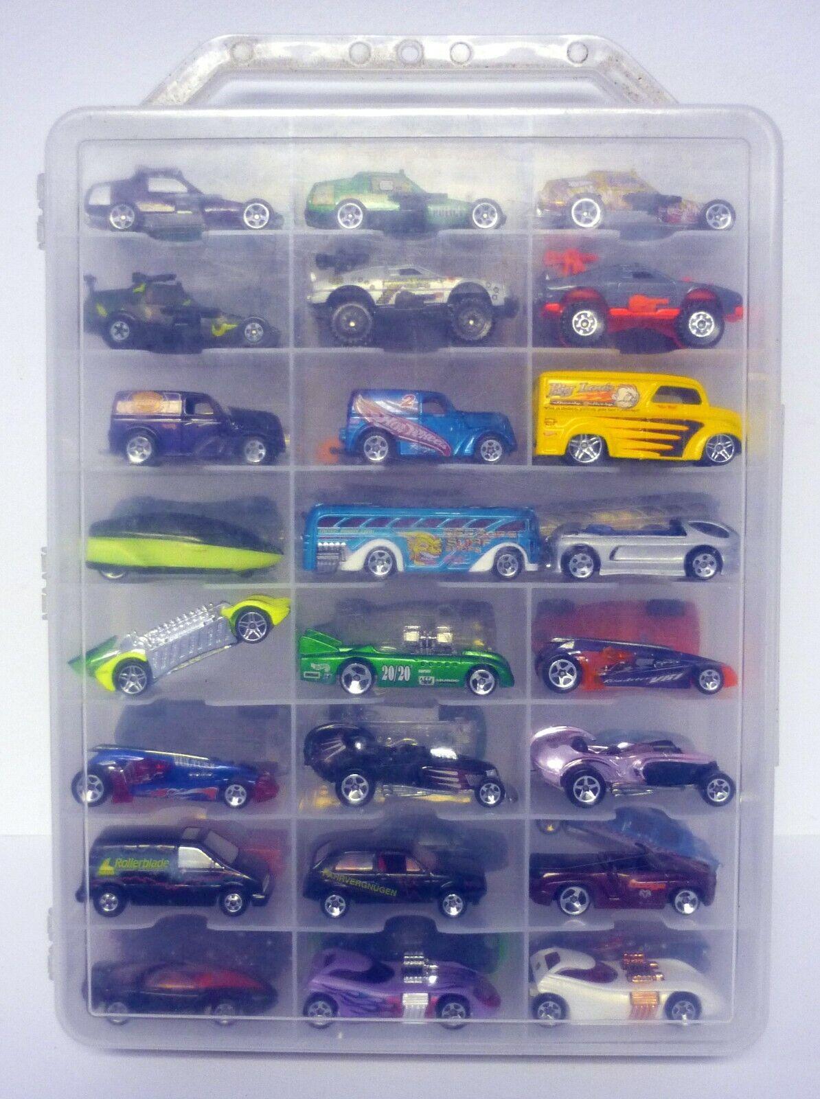 Hot Wheels 48 estuche de transporte coche con autos varios coches de fundición