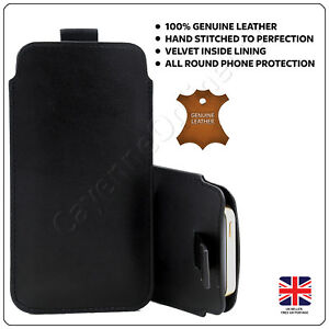 LG-ARISTO-2-Luxury-Real-Leather-Pull-Tab-Slide-In-Pouch-Case-Cover