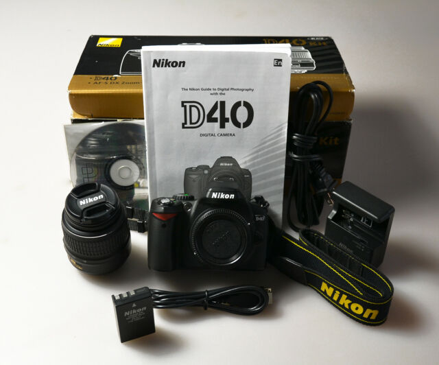 nikon d d40 6 1mp digital slr camera black kit w af s dx ed ii g rh ebay com