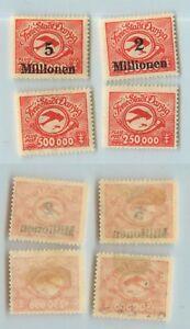Danzig-1923-SC-C22-C23-C24-C25-mint-1921-1930-rtb619
