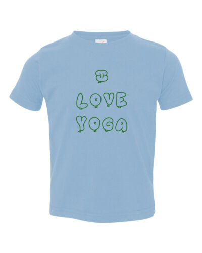 6mo Thru 7t I Love Yoga Baby Toddler Kid T-shirt Tee