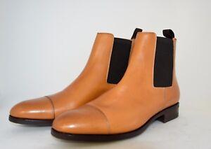 Boot stivale 8eu Rubber Men Cuoio tan Calf 9usa chelsea vitello Sole leather xtnpwqHwT