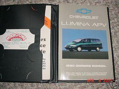 1990 Chevrolet Lumina APV Van Owners Manual 90 Chevy