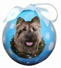 "CAIRN TERRIER -- E & S Shatterproof 3"" Ball Ornament -- New Gift Box"