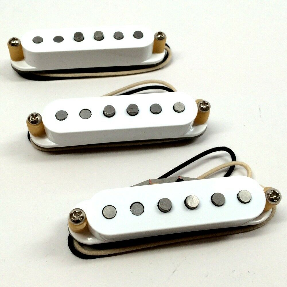 Bare Knuckle Mother's Milk Single Coil Pickup Set - Weiß Covers