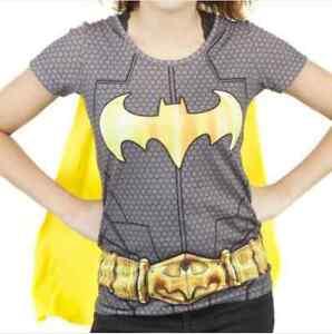 SUBLIMATED-BATMAN-BATGIRL-costume-WITH-CAPE-t-shirt-JUNIORS-S-M-L-XL-2XL-XXL