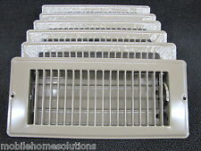 """Mobile Home RV Parts. Floor Register 4"""" x 8"""". Brown Metal Floor Vent.  Lot of 6"""