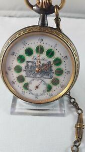 Regulator pocket watch,conductor railroad, very nice condition, serviced !