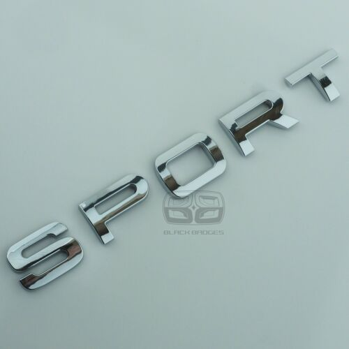CHROME 3D REAR BACK TAILGATE LETTERING BOOT LID BADGE FITS RANGE ROVER SPORT