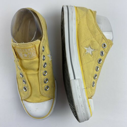 One Star Converse Women's No Laces Yellow Sneaker