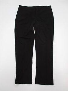 VINCE-CAMUTO-Dress-Pants-Women-039-s-Size-6-Flat-Front-Black-Slim-Leg-W1153