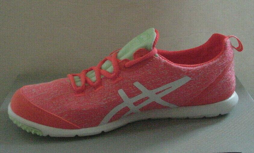 Asics Damen Schuhe Metrolyte Q651N-0601 Korallenrot Neon Orange Weiß Sz 6.5 - 10