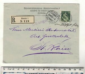 SWITZERLAND-1909-ZURICH-REGISTERED-ENVELOPE-SEE-PICTURES