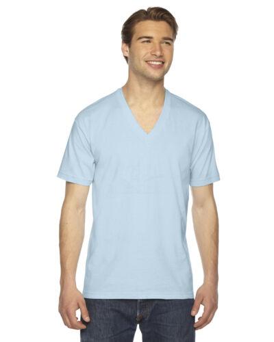 American Apparel Womens Fine Jersey V-Neck T-shirt 2456W