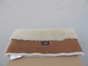 96b8a20b345 Details about UGG CLASSIC CHESTNUT SHEEPSKIN SHEARLING SNOOD/ SCARF~ ONE  SIZE ~ NWT