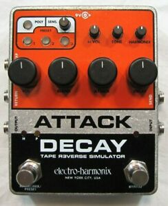 Used Electro-Harmonix EHX Attack Decay Tape Reverse Simulator Guitar Pedal