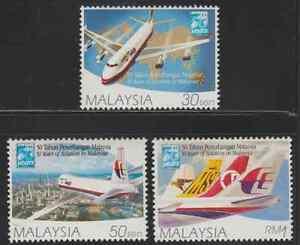 210-MALAYSIA-1997-50-YEARS-OF-AVIATION-IN-MALAYSIA-SET-FRESH-MNH