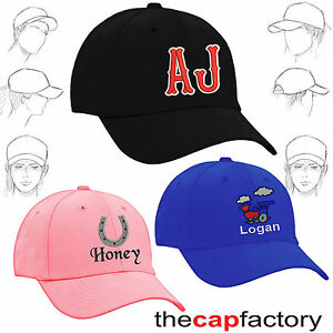 Image is loading Personalised-embroidered-childrens-baseball-caps-kids-names 613814dd37f