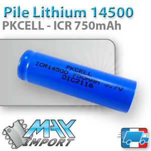 Pile-Lithium-ICR-14500-3-7V-750-mAh-PKCELL-Li-ion-Rechargeable