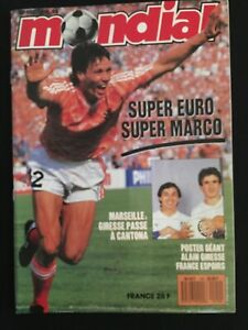 MAGAZINE-MONDIAL-N-100-EURO-88-URSS-HOLLAND-R-F-A-ITALIE-ETC-FRANCE-BORDEAUX